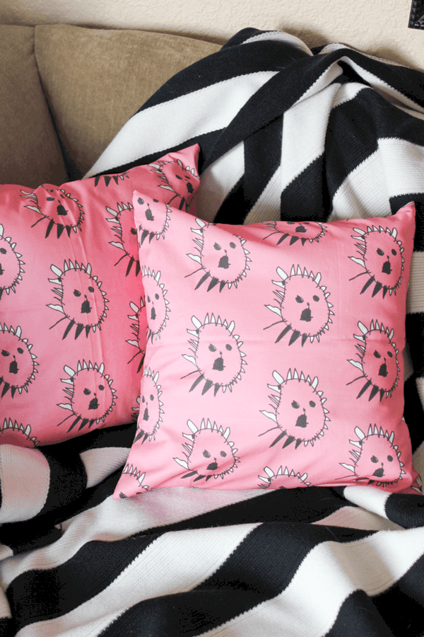 Kids Artwork Throw Pillows DIY Mother's Day Gift