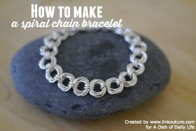 Mother's Day DIY Spiral Chain Bracelet gift idea