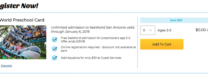 free kids ticket to sea world san antonio 2018