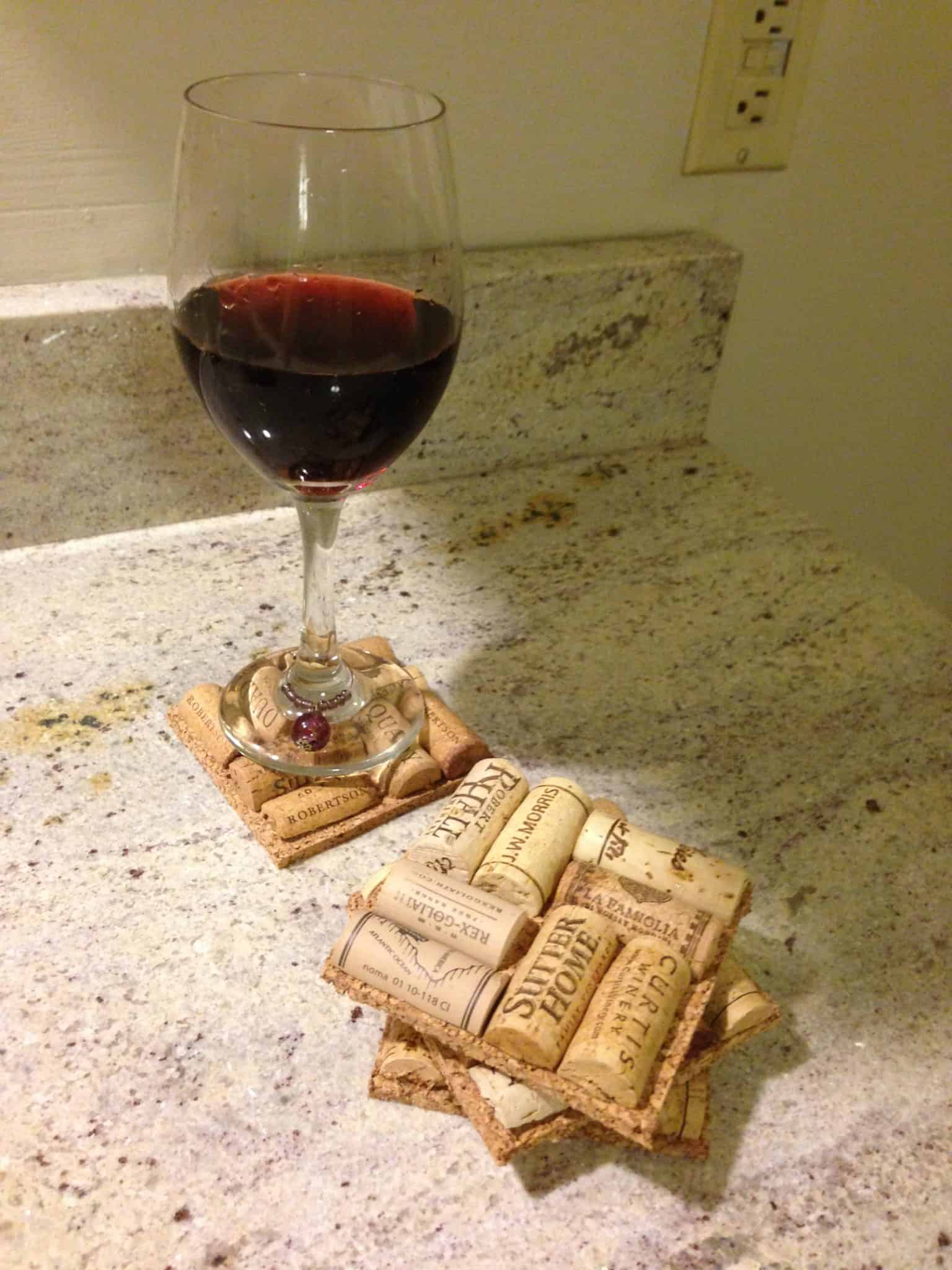 homemade mothers day gifts idea - DIY Wine Cork Coasters Craft