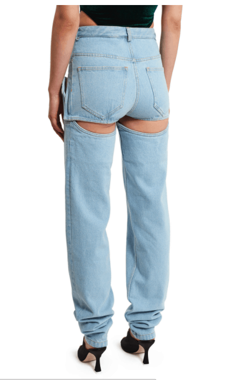 Detachable Jeans Trend ugly or cool open ceremony denim rear view