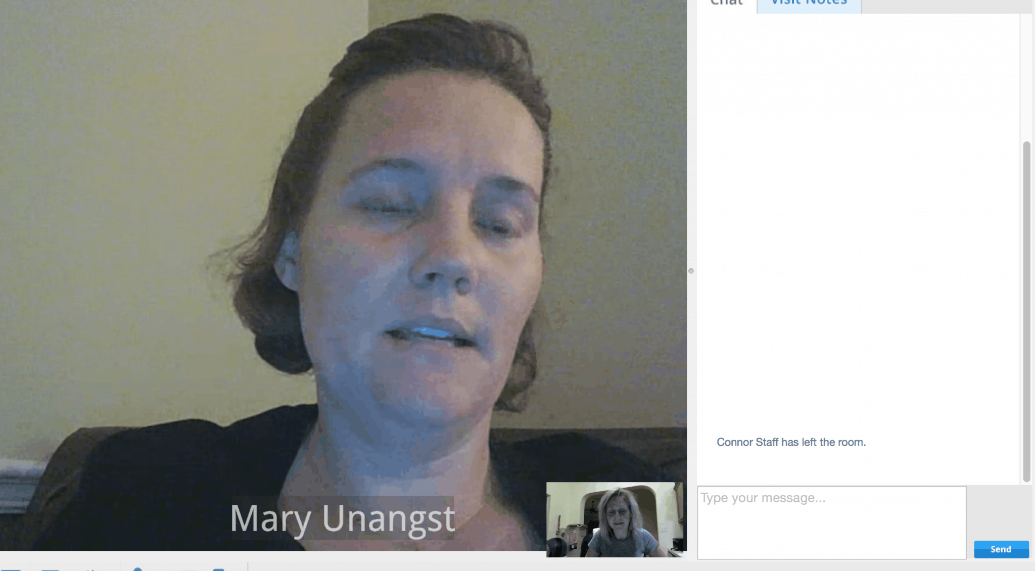 Mary Unangst online lactation consultant with Amwell - video chat