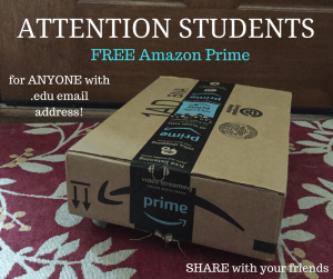 Students free Amazon prime with college email address