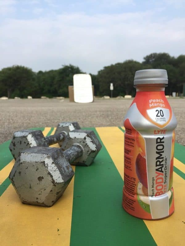 camp gladiator workout with BODYARMOR LYTE - The Low Calorie, Naturally Sweetened Sports Drink coconut water