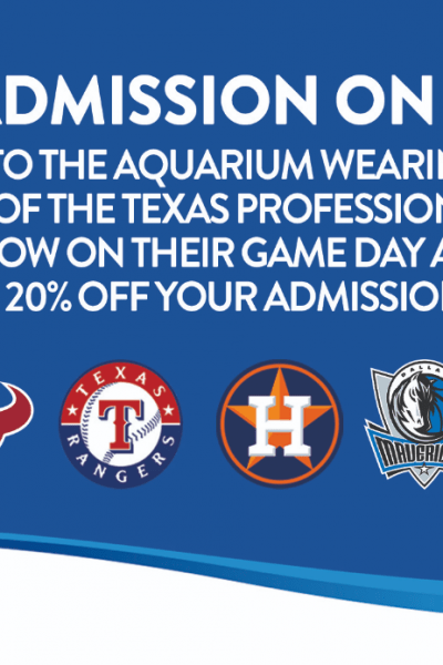 Austin Aquarium 20% off coupon deal for sports fans