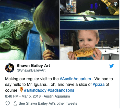 Austin Aquarium Reviews and Social Media Posts Twitter