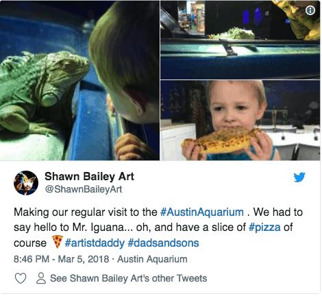 Austin Aquarium Reviews and Social Media Posts Twitter