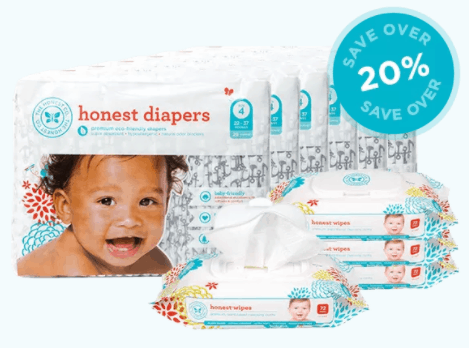 Diapers and Wipes Eco-friendly Subscription Bundle honest company