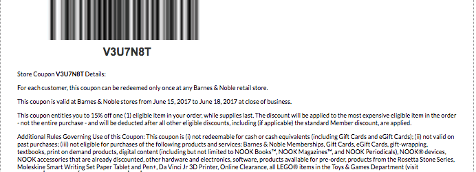 june 2017 barnes and noble printable coupon