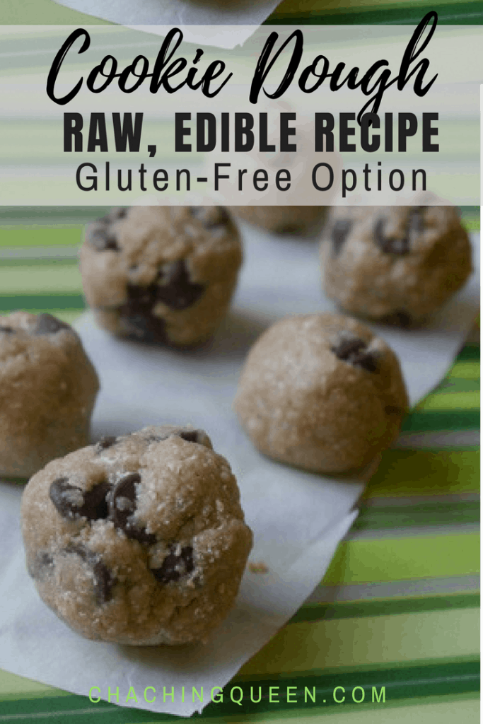 Raw Chocolate Chip Cookie Dough Recipe (Gluten-free Option) – Safe to Eat Edible Cookie Dough Recipe