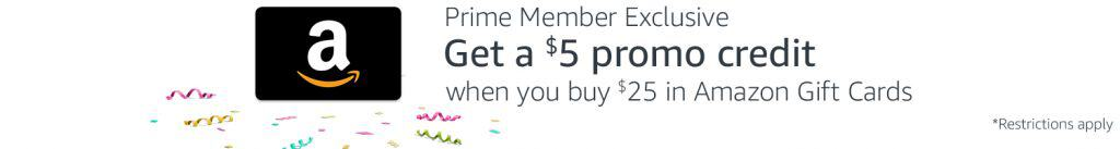amazon prime day gift card deal free 5 dollars