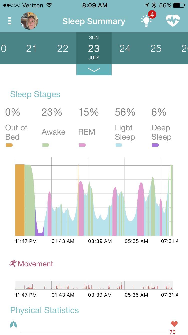 earlysense live sleep tracker app