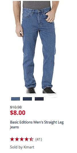 basic edition jeans deal kmart mens