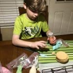 decoring homemade sugar cookies