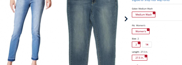 kmart denim deal womens