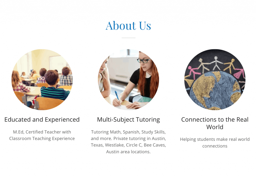 best website builder go daddy side hustle about us page for private tutoring austin