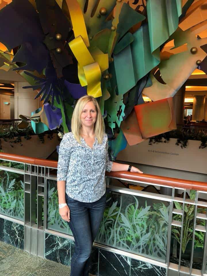 rachel at md anderson cancer center in houston - young breast cancer survivor blog in Austin Texas