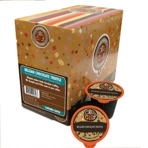 Crazy Cups Belgian Chocolate Truffle Naturally Flavored Coffee Single Serve Cups
