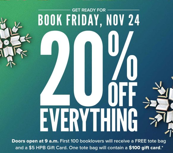 Half Price Books Black Friday Coupons and Discounts 2017