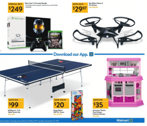 Walmart Black Friday Ad 2017 drone ping pong table deals