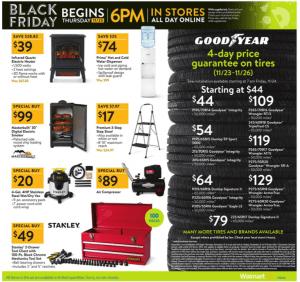 Walmart Black Friday Ad 2017 tires step ladder tool box