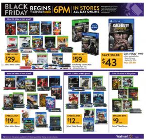 Walmart Black Friday Ad 2017 video games
