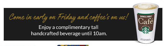 free starbucks coffee at barnes and noble on black friday 2017