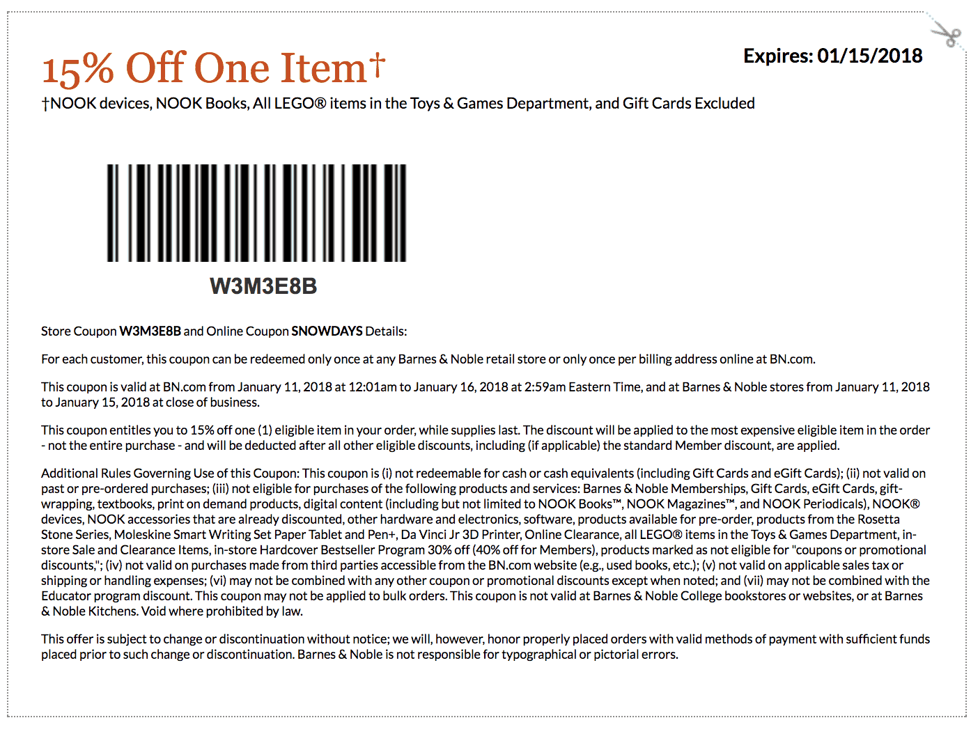 image about Lego Printable Coupon named Barnes and noble discount codes printable 2018 : Oct 2018 Retail store
