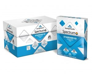 Georgia-Pacific Spectrum Standard 92 Multipurpose Paper, 8.5 x 11, 20 lb., 92 Brightness, 10 ream case, 5,000 sheets