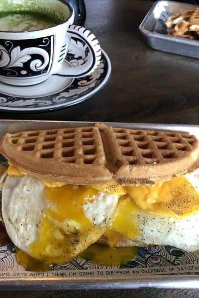 BASIC BRUNCH and waffle burger wild chix and waffles restaurant in austin
