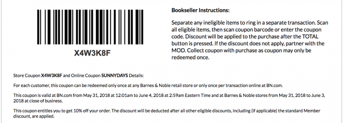 barnes and noble coupons and discounts june 2018 printable coupon and coupon code