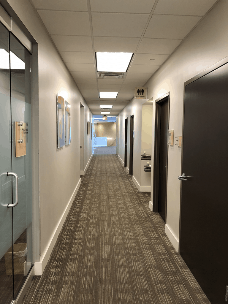 Southwest Medical Village - hallway medical offices south austin