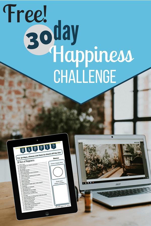 free 30 day happiness challenge from cha ching queen