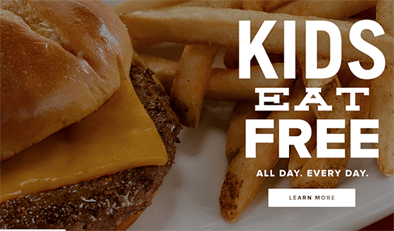 ocharleys kids eat free all day every day deal copy