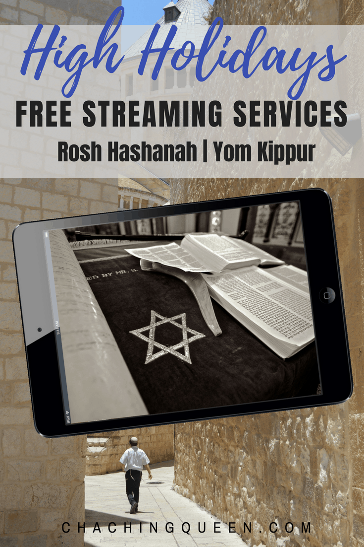 Free Online Rosh Hashanah Services and Free Online Yom Kippur Services Streaming High Holidays at Home
