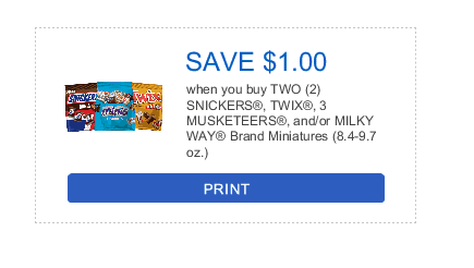 Mars chocolate minis printable coupon at H-E-B