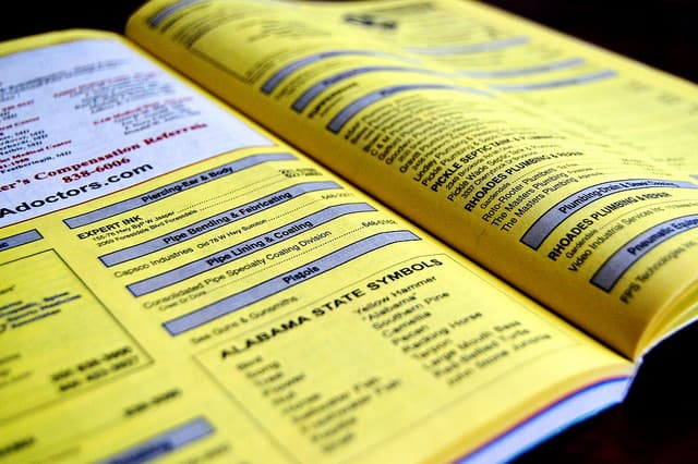 yellow pages for hired help