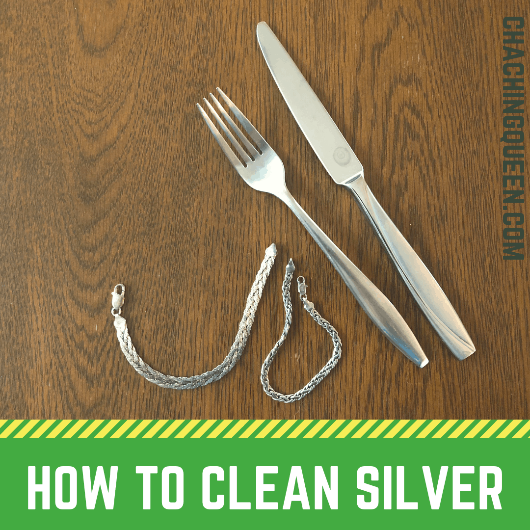 How to clean silver with vinegar and baking soda - Naturally with Green Ingredients