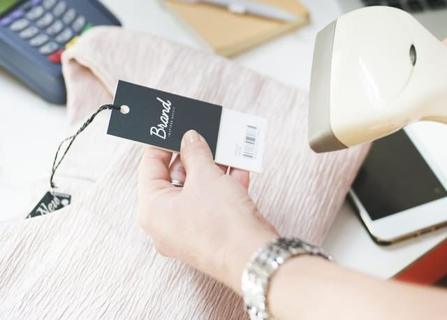 clothing tag shopping