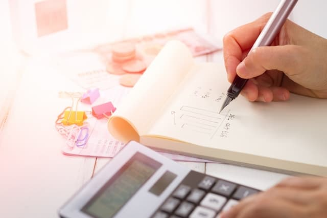 calculator graph paper pen