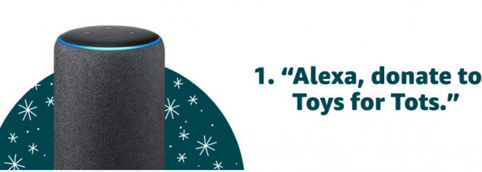 Donate Toys through Amazon with Alexa Toys for Tots