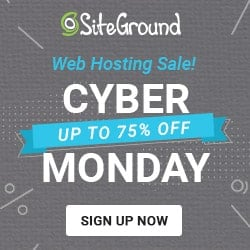 siteground cyber monday 2018 deals on hosting plans