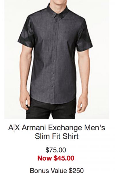Armani Exchange Men's Slim Fit Shirt