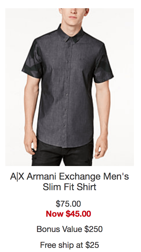 Macy's Armani Exchange Deals – Get a Stackable Rebate and up to 40% off!