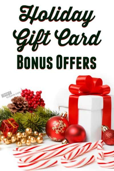 List of Holiday Bonus Gift Card Offers 2018