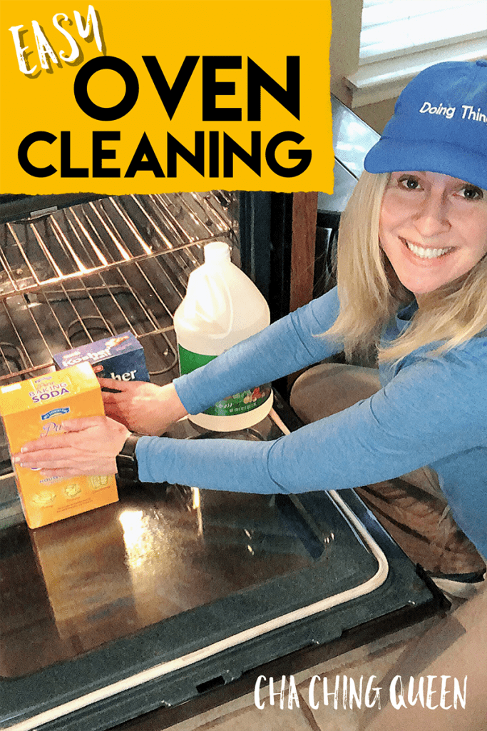 Pinterest Pin - Easiest Way to Clean Your Oven Without Chemicals - How to Clean Oven with Vinegar and Baking Soda