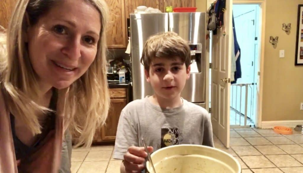 Roasted Brussels Sprouts with Maple Syrup and Soy Sauce Recipe Created by Mom and Son - Family Fun in the Kitchen