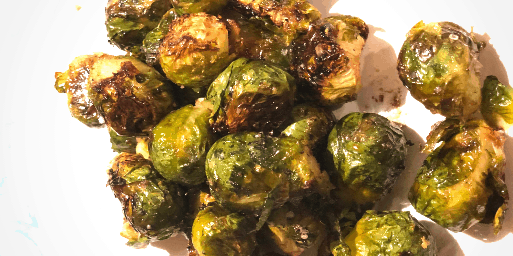 Roasted Brussels Sprouts with Maple Syrup and Soy Sauce Recipe Created by Mom and Son