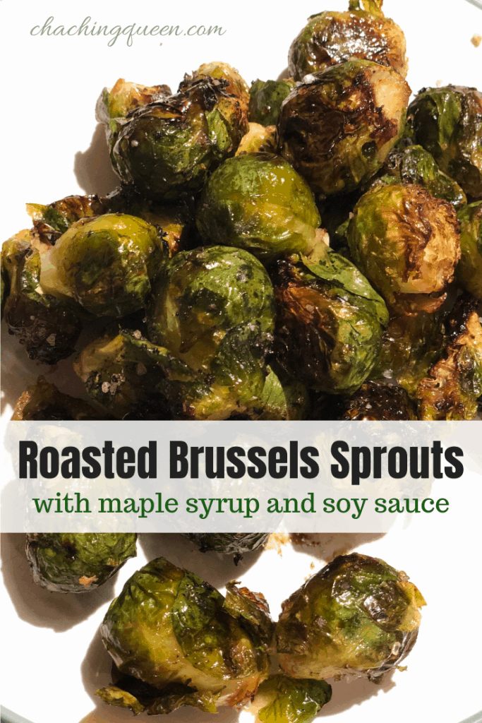 how we created our recipe for roasted Brussels sprouts with maple syrup and soy sauce