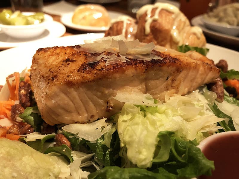 Blackened Salmon Salad at Cheddar's Restaurant - New Menu 2019